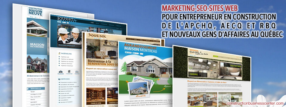 marketing seo site web pour entrepreneur en construction apchq aecq rbq montreal quebec